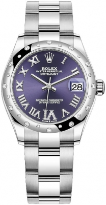 Rolex Datejust 31mm Stainless Steel 278344rbr Aubergine VI Oyster