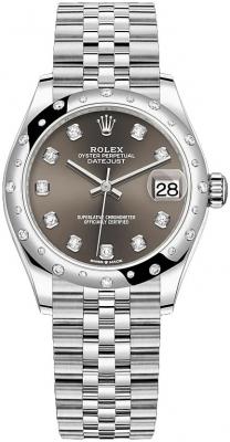 Rolex Datejust 31mm Stainless Steel 278344rbr Dark Grey Diamond Jubilee