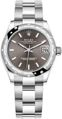Rolex Datejust 31mm Stainless Steel 278344rbr Dark Grey Index Oyster
