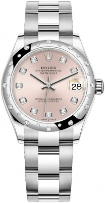 Rolex Datejust 31mm Stainless Steel 278344rbr Pink Diamond Oyster