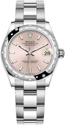 Rolex Datejust 31mm Stainless Steel 278344rbr Pink Index Oyster