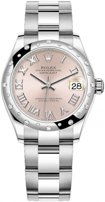 Rolex Datejust 31mm Stainless Steel 278344rbr Pink Roman Oyster