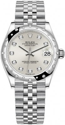 Rolex Datejust 31mm Stainless Steel 278344rbr Silver Diamond Jubilee