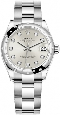 Rolex Datejust 31mm Stainless Steel 278344rbr Silver Diamond Oyster