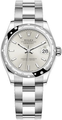 Rolex Datejust 31mm Stainless Steel 278344rbr Silver Index Oyster