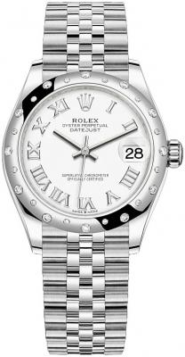 Rolex Datejust 31mm Stainless Steel 278344rbr White Roman Jubilee
