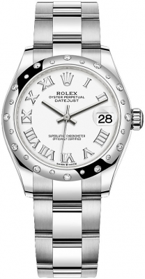 Rolex Datejust 31mm Stainless Steel 278344rbr White Roman Oyster