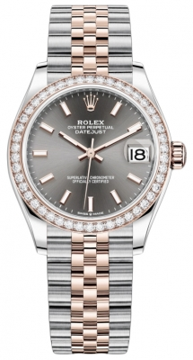 Rolex Datejust 31mm Stainless Steel and Rose Gold 278381rbr Rhodium Index Jubilee