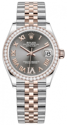 Rolex Datejust 31mm Stainless Steel and Rose Gold 278381rbr Rhodium VI Roman Jubilee