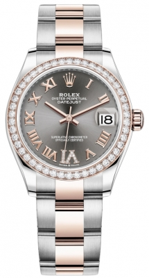 Rolex Datejust 31mm Stainless Steel and Rose Gold 278381rbr Rhodium VI Roman Oyster