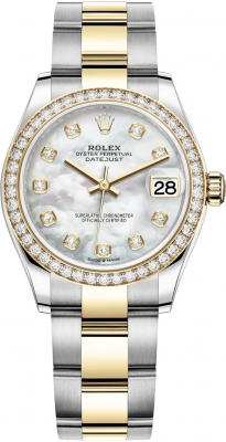 Rolex Datejust 31mm Stainless Steel and Yellow Gold 278383rbr MOP Diamond Oyster