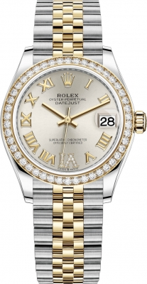 Rolex Datejust 31mm Stainless Steel and Yellow Gold 278383rbr Silver VI Roman Jubilee