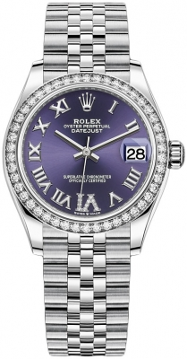 Rolex Datejust 31mm Stainless Steel 278384rbr Aubergine VI Jubilee