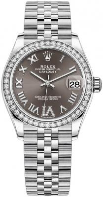 Rolex Datejust 31mm Stainless Steel 278384rbr Dark Grey VI Jubilee