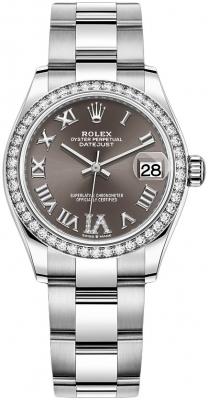 Rolex Datejust 31mm Stainless Steel 278384rbr Dark Grey VI Oyster
