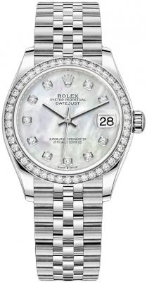 Rolex Datejust 31mm Stainless Steel 278384rbr MOP Diamond Jubilee