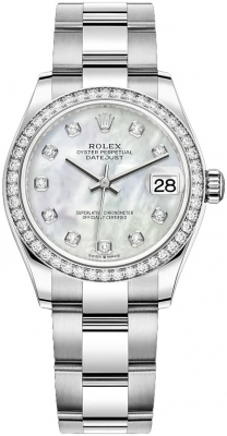 Rolex Datejust 31mm Stainless Steel 278384rbr MOP Diamond Oyster