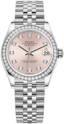 Rolex Datejust 31mm Stainless Steel 278384rbr Pink Diamond Jubilee