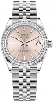 Rolex Datejust 31mm Stainless Steel 278384rbr Pink Index Jubilee