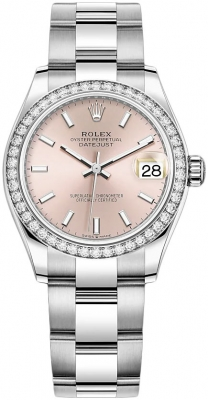 Rolex Datejust 31mm Stainless Steel 278384rbr Pink Index Oyster