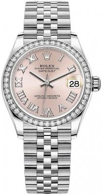 Rolex Datejust 31mm Stainless Steel 278384rbr Pink Roman Jubilee