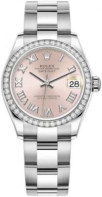 Rolex Datejust 31mm Stainless Steel 278384rbr Pink Roman Oyster