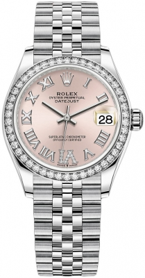 Rolex Datejust 31mm Stainless Steel 278384rbr Pink VI Jubilee