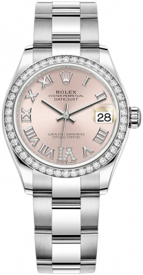 Rolex Datejust 31mm Stainless Steel 278384rbr Pink VI Oyster