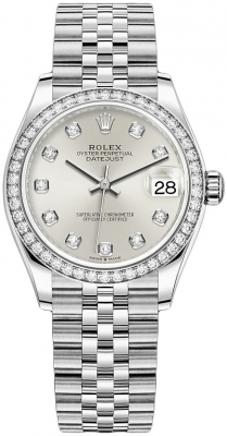 Rolex Datejust 31mm Stainless Steel 278384rbr Silver Diamond Jubilee