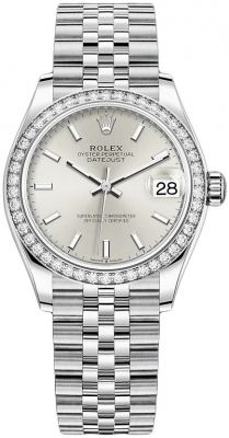 Rolex Datejust 31mm Stainless Steel 278384rbr Silver Index Jubilee