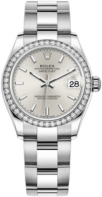 Rolex Datejust 31mm Stainless Steel 278384rbr Silver Index Oyster
