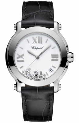 Chopard Happy Sport Round Quartz 36mm 278475-3001 black