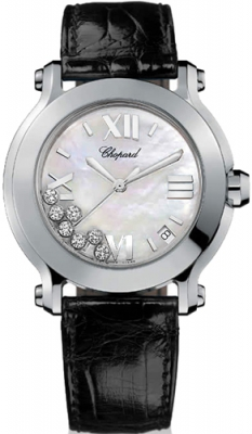 Chopard Happy Sport Round Quartz 36mm 278475-3002 black