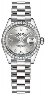 279136RBR Silver 17 Diamond President
