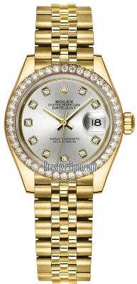 Rolex Lady Datejust 28mm Yellow Gold 279138RBR Silver Diamond Jubilee