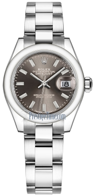Rolex Lady Datejust 28mm Stainless Steel 279160 Dark Grey Index Oyster