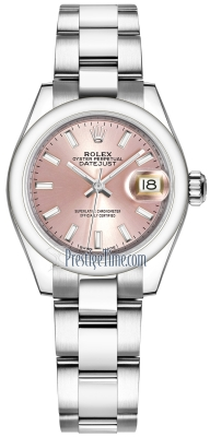 Rolex Lady Datejust 28mm Stainless Steel 279160 Pink Index Oyster