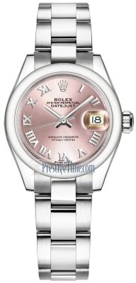 Rolex Lady Datejust 28mm Stainless Steel 279160 Pink Roman Oyster