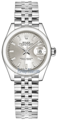 Rolex Lady Datejust 28mm Stainless Steel 279160 Silver Index Jubilee