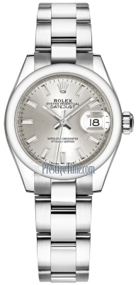 Rolex Lady Datejust 28mm Stainless Steel 279160 Silver Index Oyster