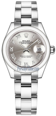 Rolex Lady Datejust 28mm Stainless Steel 279160 Silver Roman Oyster