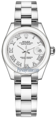 Rolex Lady Datejust 28mm Stainless Steel 279160 White Roman Oyster