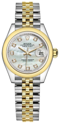 Rolex Lady Datejust 28mm Stainless Steel and Yellow Gold 279163 MOP Diamond Jubilee