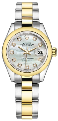 Rolex Lady Datejust 28mm Stainless Steel and Yellow Gold 279163 MOP Diamond Oyster