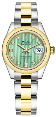279163 Mint Green Diamond Oyster