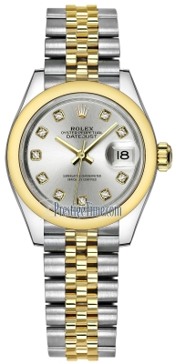 Rolex Lady Datejust 28mm Stainless Steel and Yellow Gold 279163 Silver Diamond Jubilee