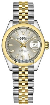 Rolex Lady Datejust 28mm Stainless Steel and Yellow Gold 279163 Silver Index Jubilee