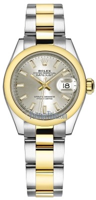 Rolex Lady Datejust 28mm Stainless Steel and Yellow Gold 279163 Silver Index Oyster