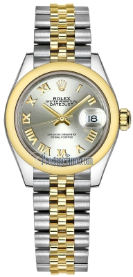 Rolex Lady Datejust 28mm Stainless Steel and Yellow Gold 279163 Silver Roman Jubilee