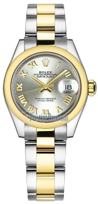 Rolex Lady Datejust 28mm Stainless Steel and Yellow Gold 279163 Silver Roman Oyster